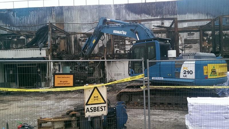 Asbest bij brandschade Hilversum | Hooijer
