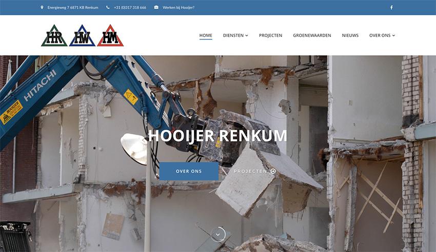Nieuwe website Hooijer